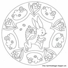 Easter Coloring Sheets, Easter Colouring, Coloring Book Pages, Coloring For Kids, Easter Art, Easter Crafts, Easter Activities For Kids, Spring Theme, Mandala Coloring
