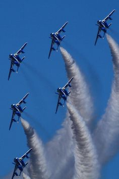 Blue Impluse flying formation