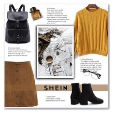 """yellow&brown"" by emina-la ❤ liked on Polyvore featuring Burberry"