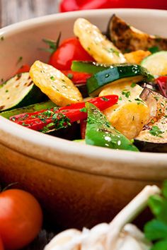 Goat Cheese with Roasted Vegetable Penne