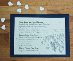 Plantable Seed Paper Wedding Invitation SetCape by jojobeandesigns, $150.00