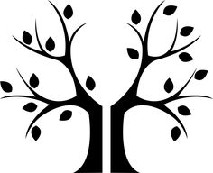 Tree trunk stencil leaves 62 ideas for 2019 Tree Templates, Applique Templates, Tree Branch Centerpieces, Tree Decorations, Tree Stencil, Stencils, Roots Drawing, Tree Cut Out, Make A Family Tree