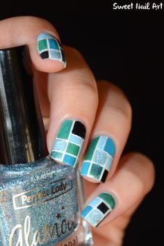 mosaic nail design - nailart                                                                                                                                                                                 Plus