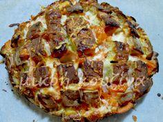Πίτσα σε βάση από καρβέλι ψωμί Vegetable Pizza, Quiche, Appetizers, Vegetables, Breakfast, Recipes, Food, Morning Coffee, Appetizer