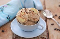 Easily make Homemade Tiramisu Ice Cream with my Two Ingredient, No Machine Ice Cream recipe, coffee, lady fingers and dark chocolate. It's that simple!