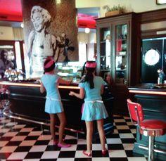 Waitresses at the James Dean Restaurant Prague