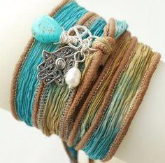 Blue, Green, Yellow, Brown, Bracelet