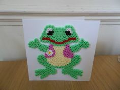 Handmade Frog card hama beads by *starbuy*