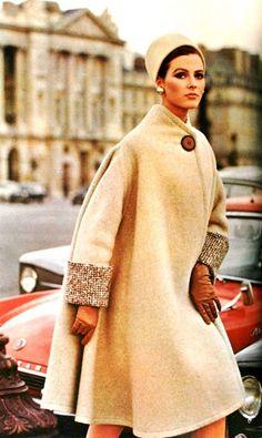 (1950's Vintage) Wool Coat with matching Pillbox-Hat | Edward Molyneux