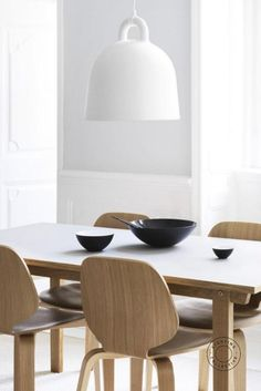Designed by Normann Copenhagen the Bell Suspended Pendant is robust in form and beautifully simple in design. #scandinavian #scandinaviandesign #lightingdesign #interiorlight #interiorpendant #lightingpendant #scnadinavianpendant #bell #pendant Luxury Lighting, Shop Lighting, Interior Lighting, Lighting Design, Pendant Lighting, Nordic Design, Scandinavian Design, Scandinavian Lighting, Floor Lamp