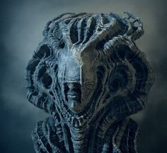 [image] Title: Mysterious Sculpture Name: Tomasz Strzalkowski Country: Poland Software: Photoshop, ZBrush Hi Its my last scene. I have made modeling, texturing and rendering in Zbrush, only composition in Photoshop… Dark Fantasy, Fantasy Art, Arte Horror, Horror Art, Zbrush, Aliens, Art Alien, Character Art, Character Design