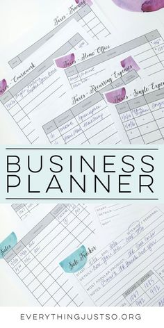 Business Planner | everythingjustso.org | Are you a TPT seller or small business owner looking for the perfect planner to keep you and your business organized? This resource contains all of the pages I use on a daily and weekly basis to plan my week, blog posts, products, and more. Over 280 pages tested and edited until they were just so!