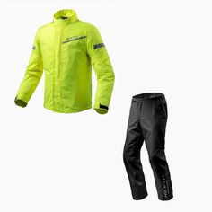 Rainy days ahead aren't a match for the Rev'It Rain gear line up. Easy to pack, easy to throw on over all your gear (boots included!) we always recommend having this duo on hand for any trip. Not having to set up a make-shift drying rack by the fire and hoping your gear is dry for tomorrow is always a plus 👌 Motorcycle Rain Gear, Buy Motorcycle, Motorcycle Jacket, Riding Jacket, Riding Gear, Rain Pants, Shoulder Armor, Wet Weather, Rainy Days