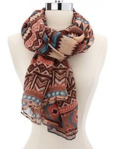 southwest tribal woven scarf @Kristen Williams