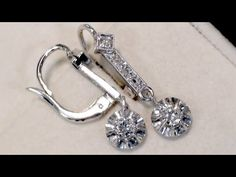 Diamond Drop Earrings Uk Antique Jewellery Edwardian Era Vintage Jewelry Collection White Gold Pc Pairs