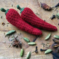 Silly Chilli Brooch, pattern for purchase