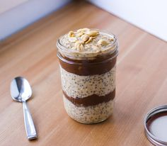 Peanut Butter and Chocolate Overnight Oats Parfait (vegan and plant strong!)