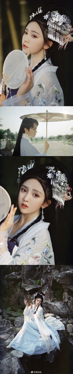 Chinese Hanfu beauties Dragon Princess, Butterfly Pea, Fairytale Dress, Chinese Clothing, Hanfu, Traditional Dresses, Asian Fashion, Character Inspiration, Beautiful People