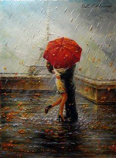 solo un beso tuyo bajo la lluvia....