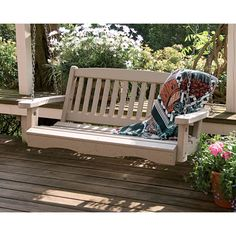 Great American Woodies 4-ft. Lifestyle Recycled Plastic Mission Porch Swing - Porch Swings at Porch Swings