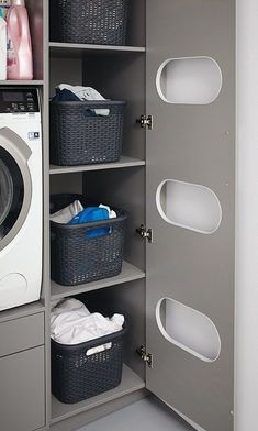 C's pantry is the answer to a tidy room. - Schüller C's pantry is the answer to a tidy room. This … -Schüller C's pantry is the answer to a tidy room. - Schüller C's pantry is the answer to a tidy room. Modern Laundry Rooms, Laundry Room Layouts, Large Laundry Rooms, Laundry Room Remodel, Basement Laundry, Laundry Room Organization, Laundry Room Storage, Small Laundry, Laundry Room Design