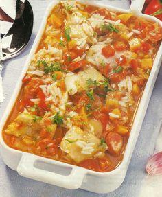 Receita de Arroz de Tamboril -A culinária em Portugalé rica em pratos de peixe, e este que lhe apresentamos é um bom exemplo disso. O tamboril, além de ter um sabor delicado e textura carnuda, é um peixe magro e muito nutritivo.