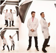 Dancing dentists from Da Vinci Dental Dr. Keller outtakes and behind the scenes at Studio B Portraits