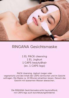 Verwöhnung pur - die RINGANA Gesichtsmaske!! Ausprobieren und so richtig wohlfühlen   Ihnen fehlen noch die passenden Produkte? Auf www.frische-naturessenzen.at können Sie diese bestellen!