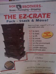 The New EZ Crate ! Reusable Moving Boxes.
