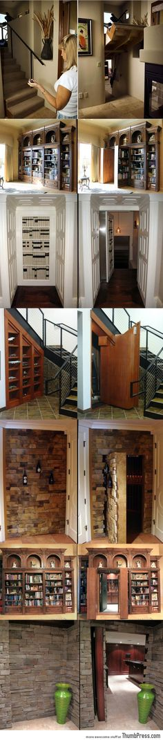 Secret hidden passageways! So doing this to my Harry potter room!- what if I had a bookcase that leads to another book room