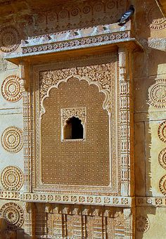 """Jaisalmer detail - Jaisalmer, the """"Golden City"""", is located on the westernmost frontier of India in the state of Rajasthan, India"""