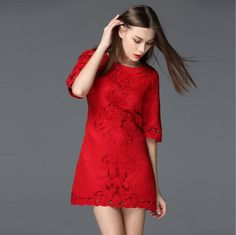 Women Dress Womens Sexy Dresses Party Night Club 2016 Summer New Style Heavy Lndustrial Embroidery Hollow Out party Dresses * Check out the image by visiting the link.