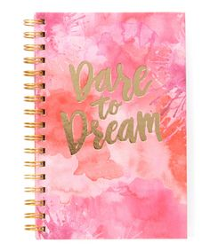 Look what I found on #zulily! Dare To Dream Spiral Notebook by Studio Oh! #zulilyfinds