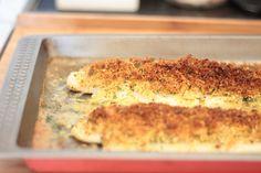 As Minhas Receitas: Filetes com Crosta de Pão, Limão e Ervas Aromáticas
