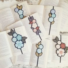Pretty Things for Bookish People от LoveMaude на Etsy Teacher Appreciation Gifts, Teacher Gifts, Pretty Things, Hand Embroidery Art, My Bookmarks, Book Markers, Felt Art, Lead Time, Book Worms