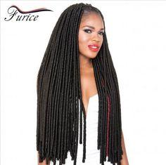 Faux Locs Crochet Hair Long Dreadlocks Extensions Curly Dreads Hairstyles Afro Twist Braid Locs Dread 14''18'' 24 Strands/Pack