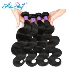 Get HumanHair Products At Cheap Prices  US $10.50     Wholesale Priced Wigs, Extensions, And Bundles!     FREE Shipping Worldwide     Get it here ---> http://humanhairemporium.com/products/virgin-pervuvian-body-wave-human-hair-weaving-natural-black-ali-sky-unprocessed-thick-and-full-bundles-no-tangle-free-shipping/  #black_hairstyles
