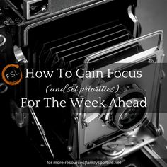 How to Gain Focus For The Week Ahead via @familysportlife