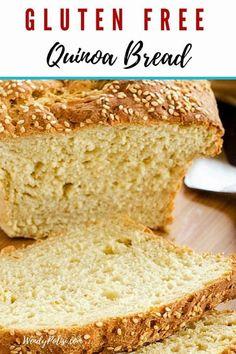 This gluten free Quinoa Bread Recipe is a healthy bread that the family will love! Quinoa Flour Recipes, Quinoa Bread, Protein Bread, Keto Bread, Bread Recipes, Vegan Recipes, Millet Bread, Quinoa Recipe, Gluten Free Bread Maker