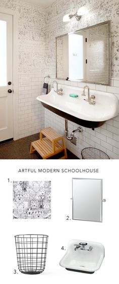 Removable bathroom wallpaper from Chasing Paper is the perfect way to update your bathroom without a major renovation!