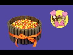 Kit-Kat Thanksgiving or Halloween cake - how to Tutorial by Charli's cra...