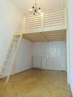 The 18 best DIY Murphy Bed Ideas to Maximize Your Space - The Trending House Mezzanine Bedroom, Loft Room, Bedroom Loft, Dream Bedroom, Bedroom Decor, Attic Bedrooms, Bedroom Ideas, Small Rooms, Small Apartments
