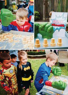 Avengers Inspired Superhero Birthday Bash: Hulk smash game