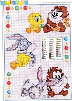 Cartoon Cross Stitch Patterns | Gallery Cross stitch patterns Children Cartoons Baby Taz Bugs Bunny ...