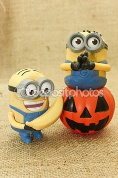 #Photography #StockPhotography #Art #portfolio #Moon #Background #Sky #Night #Witch #Pumpkin #jack #Magic #Evil #Creepy #Lantern #trickortreat #Celebration #Event #Decoration #Fantasy #Fun #MINION #Prank #Fall #October #Holiday Happy Halloween Minions trick or treat — Stock Photo © BAphotography #55692583