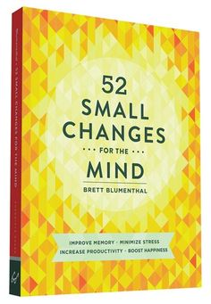 Small changes work. In this practical book, wellness expert Brett Blumenthal reveals how to hone in on the mind as the foundation of overall health and well-being. She presents one small, achievable change every week—from developing music appreciation to eating brain-boosting foods, practicing mono-tasking, incorporating play, and more. The accumulation of these lifestyle changes ultimately leads to improved memory, less stress, increased productivity, and sustained happiness. Backed b...