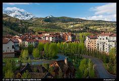 Telluride Mountain Village in the spring. Telluride, Colorado, USA (color)
