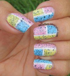 nailallure speckled nail polish color block
