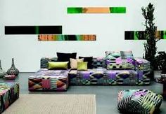 lots of colours in the Lounge Landscape…  can kick on the #creative inspiration & #joyful spirit. Got a bit of African style, if you ask me. #K* on #Milano salone del mobile 2014