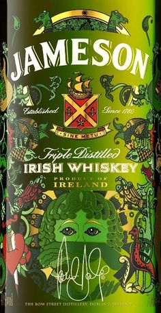 St. Patrick's Day limited edition bottle from Jameson's Irish Whisky